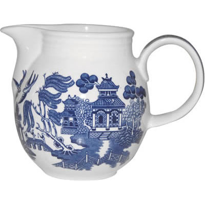 Churchill Blue Willow Milk Jug 0.8L