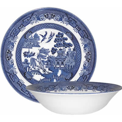 Churchill Blue Willow Salad Bowl 24cm