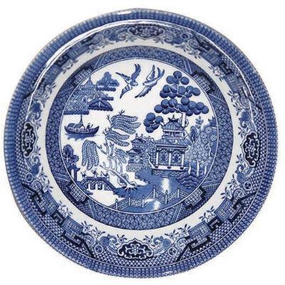 Churchill Blue Willow Scollop Bowl 22cm