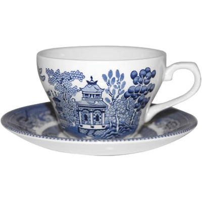 Churchill Blue Willow Tea Saucer