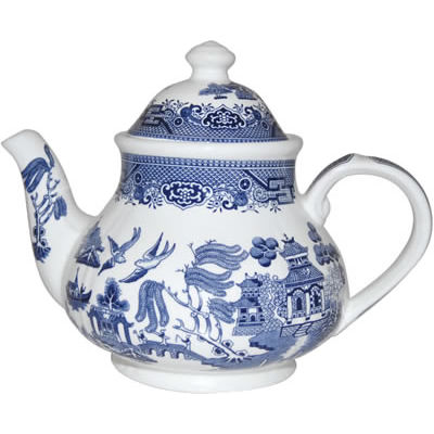 Churchill Blue Willow Teapot 1.2L