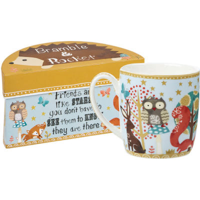 Churchill Bramble & Rocket Collection Bramble & Rocket Giftboxed Mug Friends