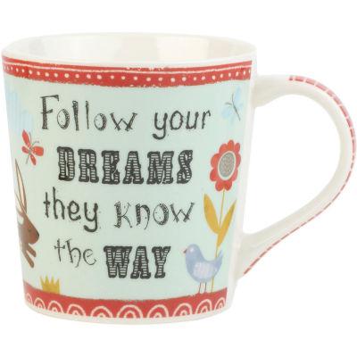 Churchill Bramble & Rocket Collection Bramble & Rocket Mug Follow Your Dreams