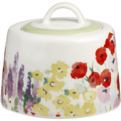 Collier Campbell Covered Sugar Bowl Painted Garden