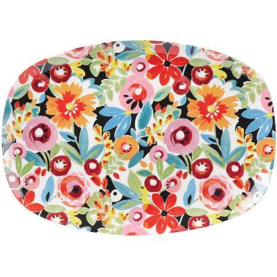 Collier Campbell Melamine Platter Flower Drop