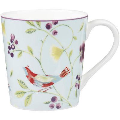 Collier Campbell Mug Chestnut Singing Birds Blue