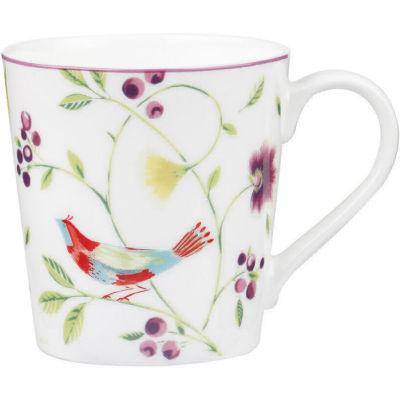Collier Campbell Mug Chestnut Singing Birds White