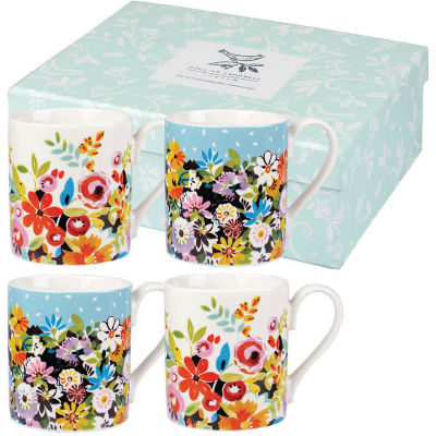 Collier Campbell Mug Small Floral Set of 4