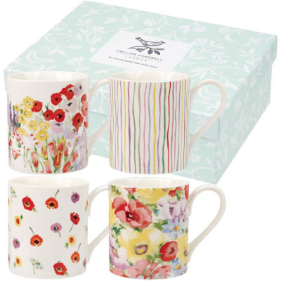 Collier Campbell Mug Small Painted Garden Set of 4