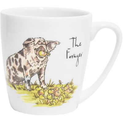 Churchill Country Pursuits Mug Acorn The Forager Pig