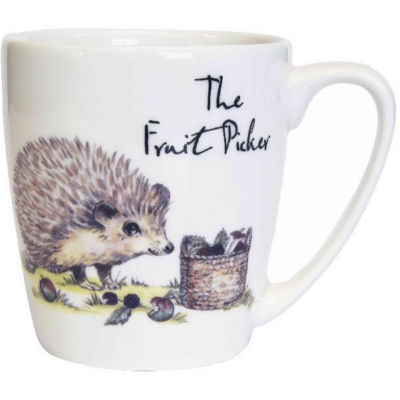 Churchill Country Pursuits Mug Acorn The Fruit Picker Hedgehog