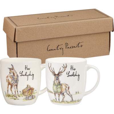 Churchill Country Pursuits Mug Set of 2 His Lordship & Her Ladyship