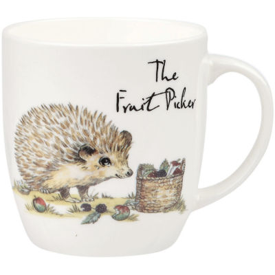 Churchill Country Pursuits Mug The Fruit Picker Hedgehog