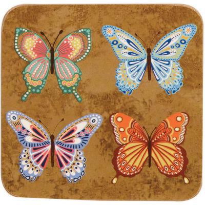 Churchill Queens Mugs Coaster Set of 6 Golden Monarch