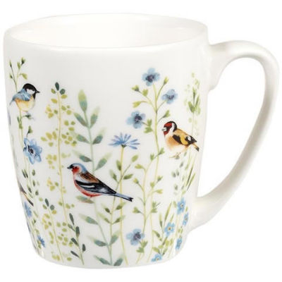 Churchill Queens Mugs Mug Acorn Aquarelle Bird Watch Blue
