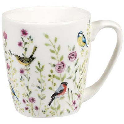 Churchill Queens Mugs Mug Acorn Aquarelle Bird Watch Pink