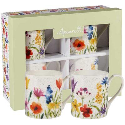 Churchill Queens Mugs Mug Aquarelle Meadow Set of 4