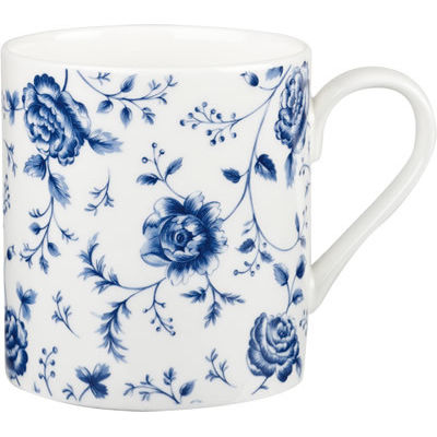 Churchill Queens Mugs Mug Can Blue Story Rose Chintz