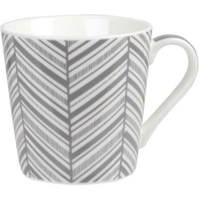 Churchill Queens Mugs Mug Geometrics Chevron Grey