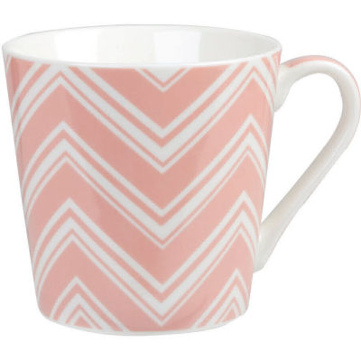 Churchill Queens Mugs Mug Geometrics Chevron Pink