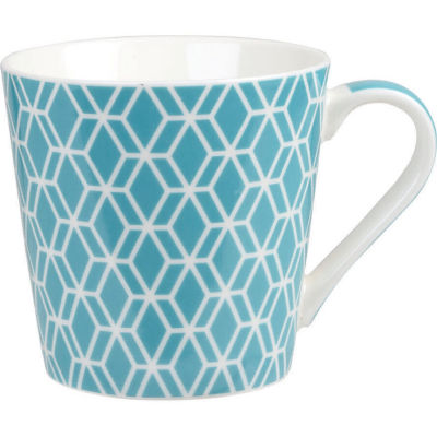 Churchill Queens Mugs Mug Geometrics Deco Aqua