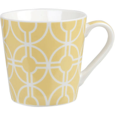 Churchill Queens Mugs Mug Geometrics Deco Ochre