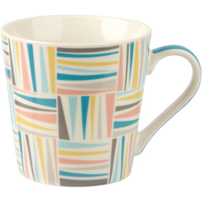 Churchill Queens Mugs Mug Geometrics Lattice Stripe