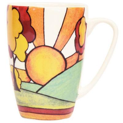 Churchill Queens Mugs Mug Rowan Classic Sunburst Clarice Cliff