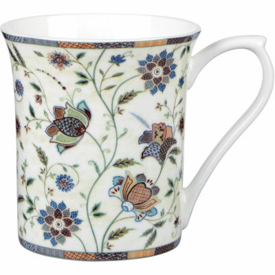 Churchill Queens Mugs Mug Small Indian Silk Blue