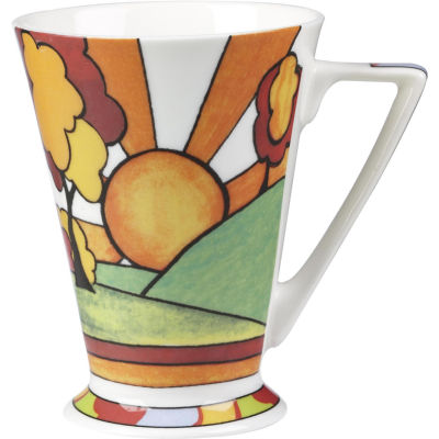 Churchill Queens Mugs Mug Tall Clarice Cliff Sunburst