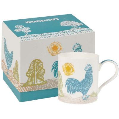 Churchill Queens Mugs Mug Woodcut Rooster