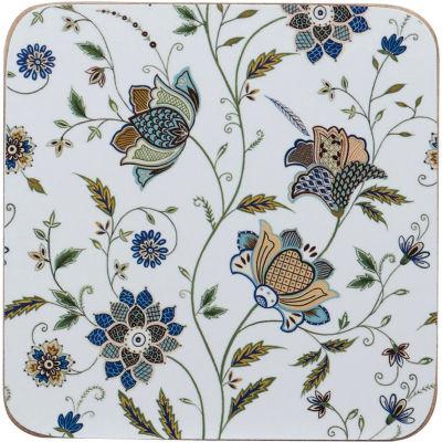 Churchill Queens Mugs Coaster Set of 6 Indian Silk