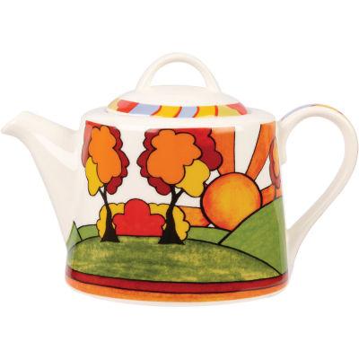 Churchill Queens Mugs Teapot Clarice Cliff Sunburst