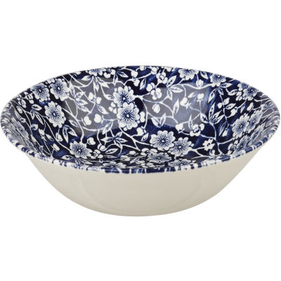 Churchill Victorian Calico Cereal Bowl 15.5cm Blue