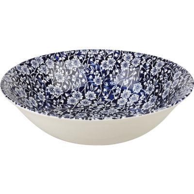Churchill Victorian Calico Salad Bowl 24cm Blue
