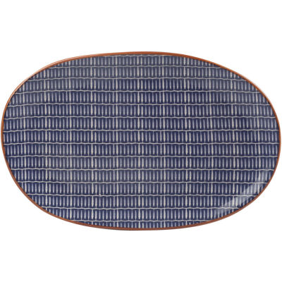 Creative Tops Drift Serving Platter Blue