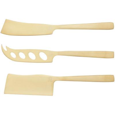 Creative Tops Gourmet Cheese Cheese Knife Artesa Set of 3 Brass Effect