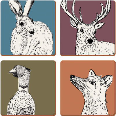 Creative Tops Into The Wild Coaster Set of 4 Into The Wild