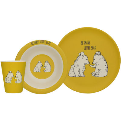 Creative Tops Into The Wild Dinner Set Be Brave Little Bear