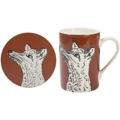 Creative Tops Into The Wild Mug & Coaster Gift Set Fox Into The Wild