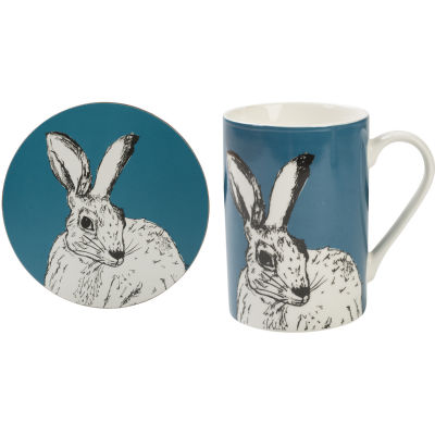 Creative Tops Into The Wild Mug & Coaster Gift Set Hare Into The Wild
