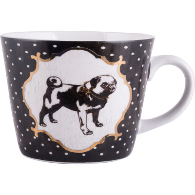 Creative Tops Into The Wild Mug Black Spot Pug Pampered Pets