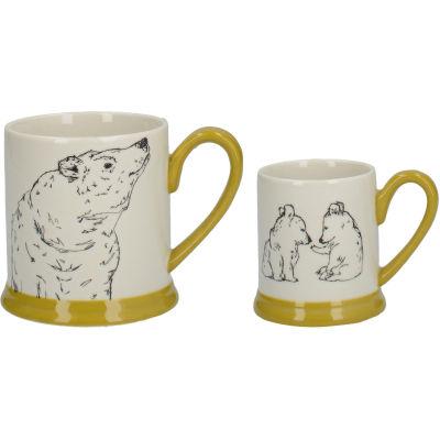 Creative Tops Into The Wild Mug Set Bear & Cubs