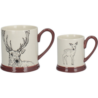 Creative Tops Into The Wild Mug Set Deer & Fawn