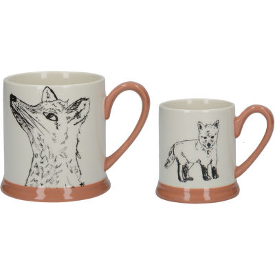 Creative Tops Into The Wild Mug Set Fox & Cub