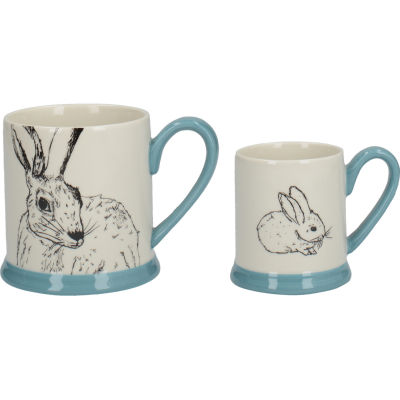 Creative Tops Into The Wild Mug Set Rabbit & Bunny