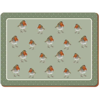 Creative Tops Into The Wild Placemat Large Set of 4 Robin Into The Wild