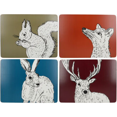 Creative Tops Into The Wild Placemat Mixed Set of 4 Into The Wild