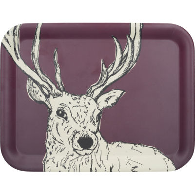 Creative Tops Into The Wild Rectangular Tray Stag