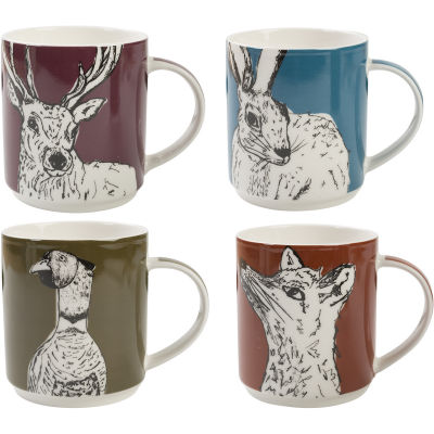 Creative Tops Into The Wild Stacking Mug Set of 4 Into The Wild